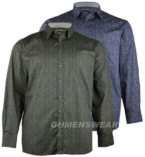 GCM Long Sleeved Floral Print Cotton Shirt